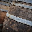 Stock Photo: Oak Wine Barrels