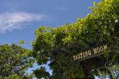 Wine Tasting Room Sign — Stock Photo