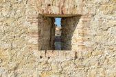 Stone Wall Background with Window — Stock Photo