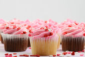 Pink Holiday Valentine's Day Cupcakes — Stock Photo