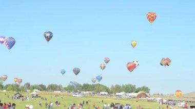 Velký balón závod reno — Stock video