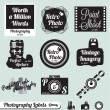 Stock Vector: Vector Set: Photography CamerLabels and Stickers