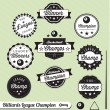 Постер, плакат: Vector Collection: Billiards League Champion Labels