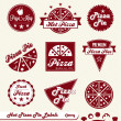 Stock Vector: Vector Set: PizzShop Labels and Badges