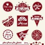 Vector Set: Pizza Shop Labels and Badges — Stock Vector