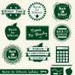 Vector Set: Back to School Labels and Badges - Stock Vector
