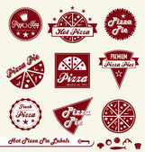 Vector Set: Pizza Shop Labels and Badges — Stock Vector