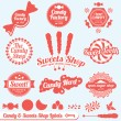 Vector Set: Candy Shop Labels and Badges — Stock Vector