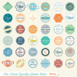 Vector Set: The Finest Quality Labels Colored — Stock Vector #12512360
