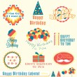Vector Set: Happy Birthday Labels and Badges — Stock Vector #12559268