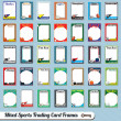 Vector Set: Retro Mixed Sports Trading Card Picture Frames — Stock Vector #13506352