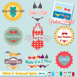 Vector Set: Retro Style Bikini and Swimsuit Labels — Stock Vector #13535556