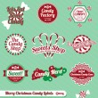 Stock Vector: Vector Set: Vintage Christmas Candy Labels and Stickers
