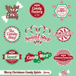 Vector Set: Vintage Christmas Candy Labels and Stickers — Stock Vector #13895164