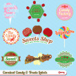 Vector Set: Vintage Carnival Candy Labels and Stickers — Stock Vector #13923558