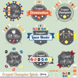 Stock Vector: Vector Set: Croquet Champion Labels and Icons