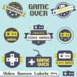 Постер, плакат: Vector Set: Vintage Video Game Labels and Icons