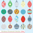 Vector Set: Vintage Christmas Ornaments — Vecteur