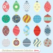 Vector Set: Vintage Christmas Ornaments — ストックベクタ