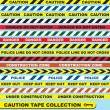 Stock Vector: Vector Set: Caution Tape Labels and Banners