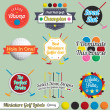 Vector Set: Miniature Golf Labels and Icons — Stockvector  #15498425