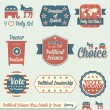 Vector Set: Vintage Political Science Class Labels and Icons — 图库矢量图片