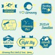 Vector Set: Vintage Astronomy Class Labels and Icons — Stock Vector