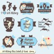 Vector Set: Vintage Art History Class Labels and Icons — Stock Vector