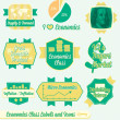 Vector Set: Vintage Economics Class Labels and Icons — Stock Vector