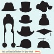 Hats and Caps Collection - Stock Vector