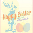 Vintage Happy Easter Card and Wallpaper — Stock Vector