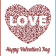 Royalty-Free Stock Vectorafbeeldingen: Love Heart Valentine\'s Day Card with 3D Effect