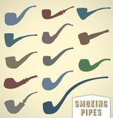 Vector Set: Smoking Pipe Collection — Stock Vector