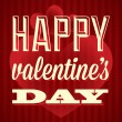 Happy Valentine's Day Card and Wallpaper — Imagen vectorial
