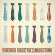 Vintage Necktie Collection - Stock Vector