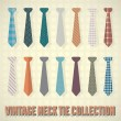 Vintage Necktie Collection — Stock Vector