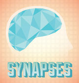 Abstract Brain Synapses Graphic — Stock vektor