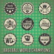 Vector Set: Baseball World Champions Labels and Icons — Stock Vector