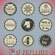 Vector Set: Vintage Fourth of July Labels and Icons — Stock Vector #21303325
