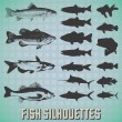 Vector Set: Fish Silhouettes — Stock Vector #21322647