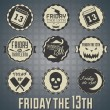 Vector Set: Friday the 13th Labels and Icons — Grafika wektorowa