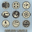 Vector Set: Vintage Sailing Labels and Icons — Stock Vector #22887184