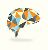 Vintage abstract brain showing activity — Stock vektor