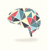 Vector Brain Activity in Retro Colors — Stock Vector