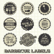 Royalty-Free Stock Vector Image: Vector Set: Vintage Barbecue Labels and Icons