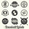 Vector Set: Retro Baseball League Champion Labels — Stock Vector #24236983