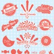 Stock Vector: Vector Set: Retro Candy Shop Labels and Icons