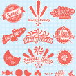 Vector Set: Retro Candy Shop Labels and Icons — Stock Vector