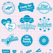 Vector Set: Retro Candy Shop Labels and Icons — Stock Vector #26225033