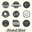 Vector Set: Football Champions Labels and Icons — Stock Vector #26443663